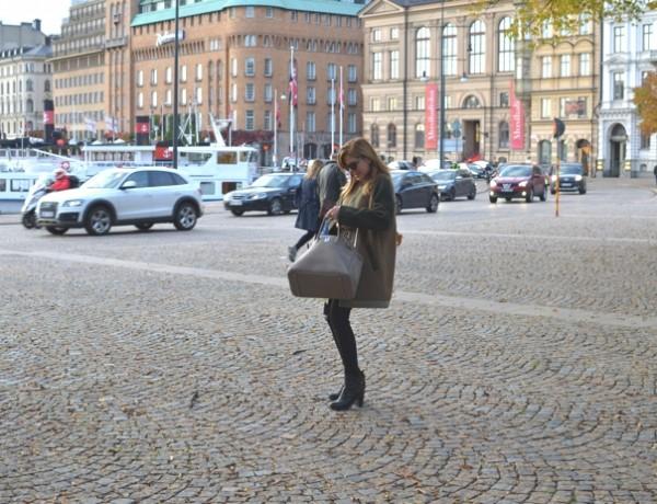 Stockholm Street Style Winter Isabel Marant Etoile Green coat Nina Papaioannou TrendSurvivor