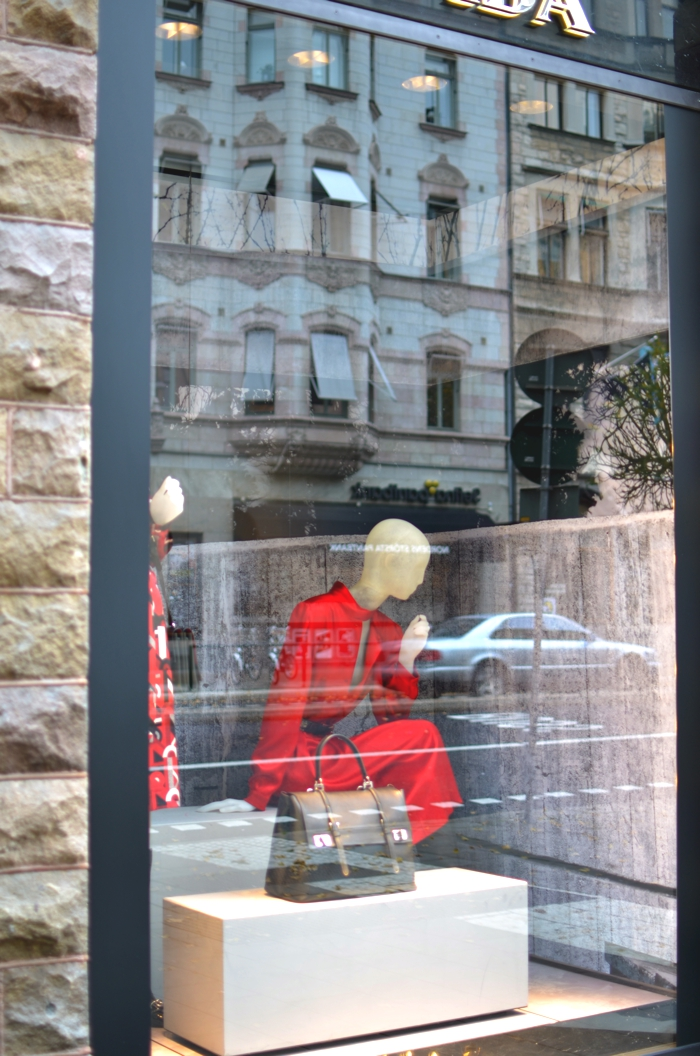 Sweden Stockholm Streets Shops Prada window