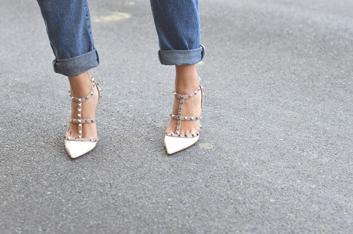 Valentino rockstuds and jeans