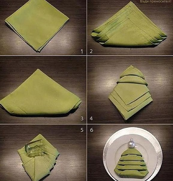 decor ideas christmas napkin folding tree trendsurvivor