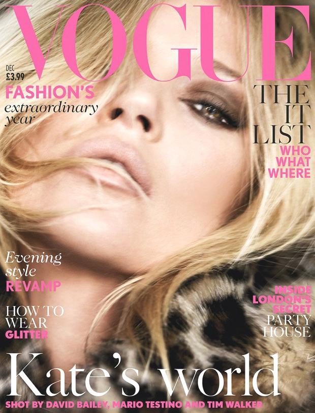 Kate Moss Vogue December