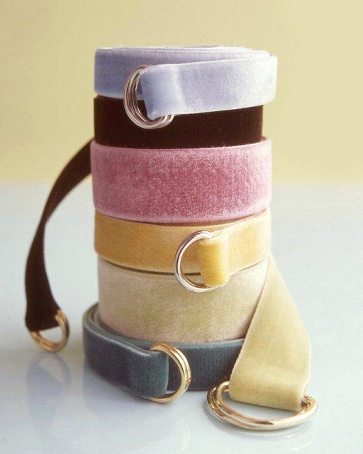 velvet ribbon belt
