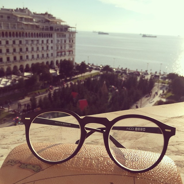 My new #firmoo glasses and the amazing view from our room at #electraPalace in #thessaloniki