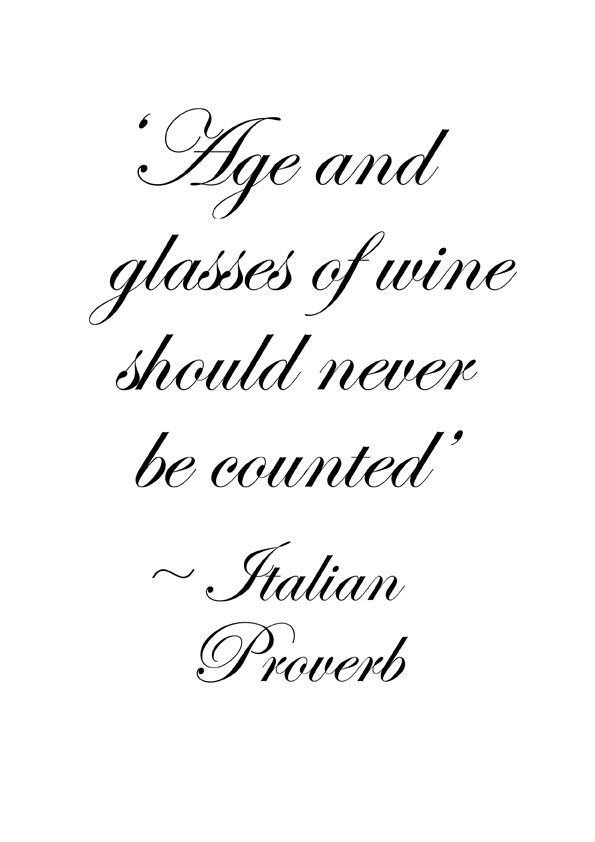 Age and glasses of wine
