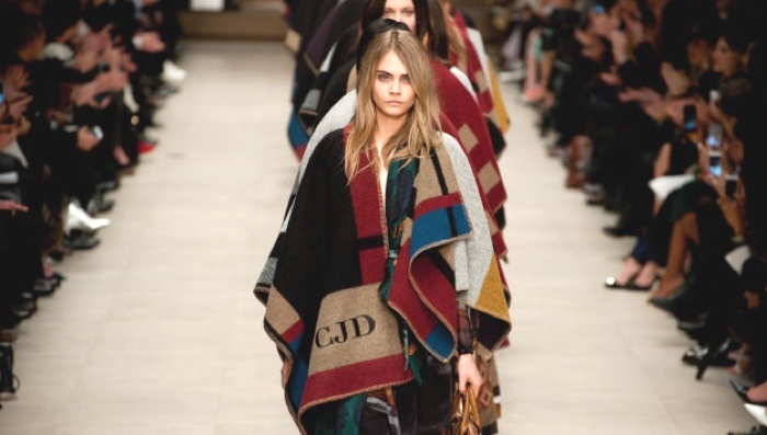 Blanket Coats Burberry Runway