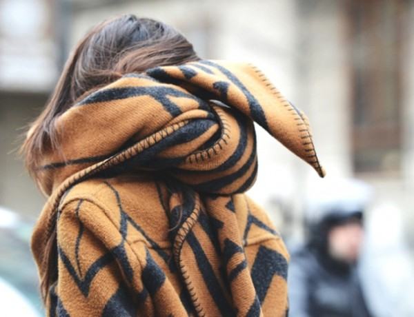 Blanket Coat wrapped up