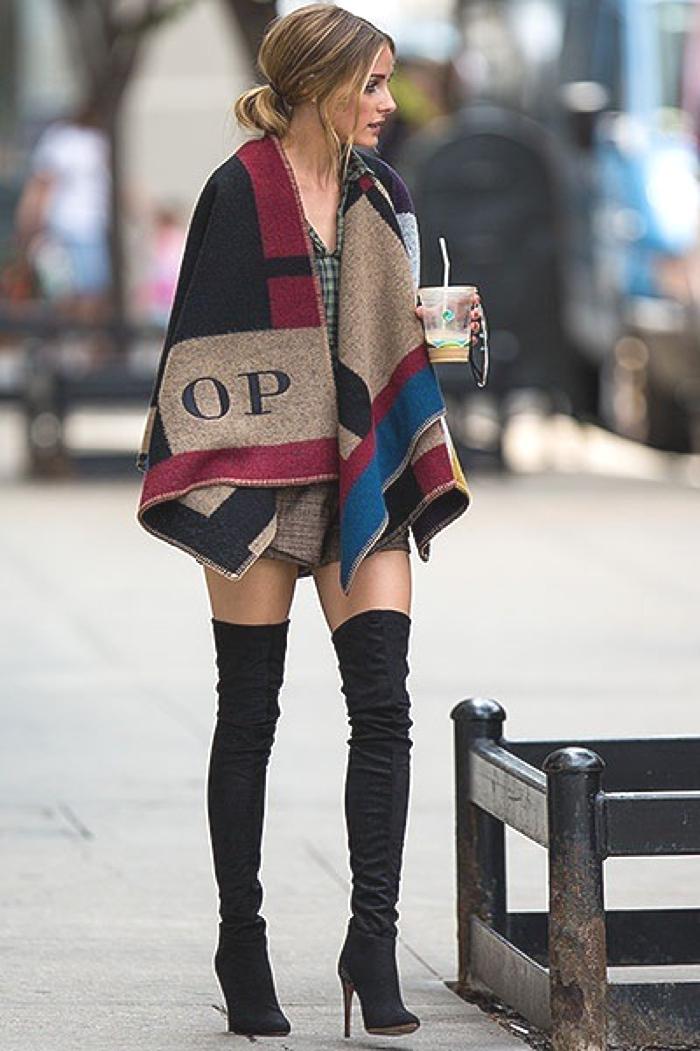 Blanket Coats Olivia Palermo street style