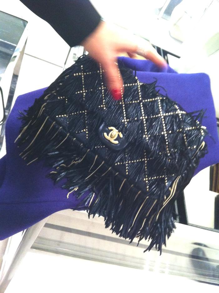 Chanel fringed bag