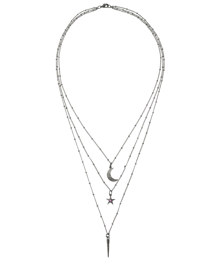 IAM BY ILEANA MAKRI Grey Diamond Treasure 3-Row Necklace