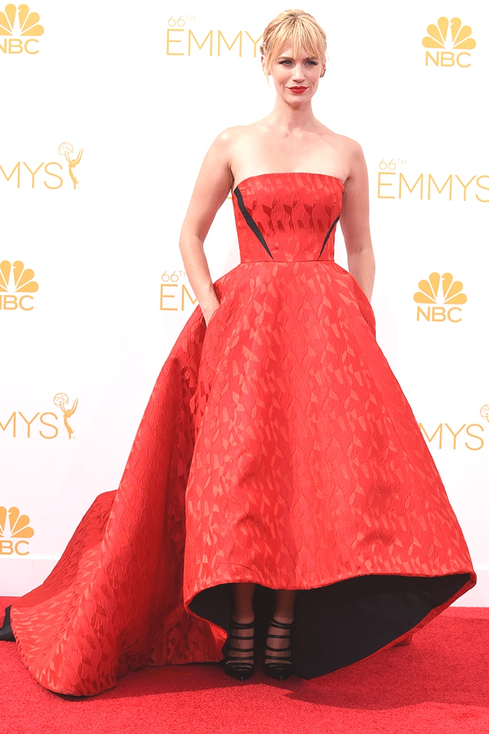 January Jones red gown