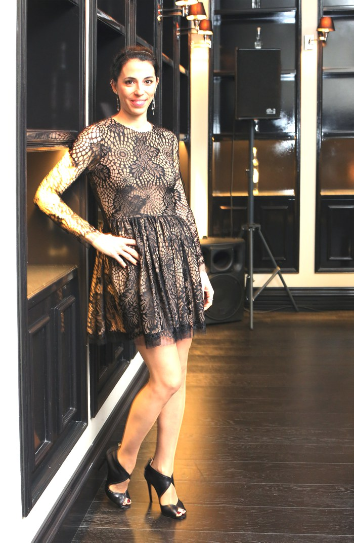 Myrto Mavroleon Vera Wang lace dress