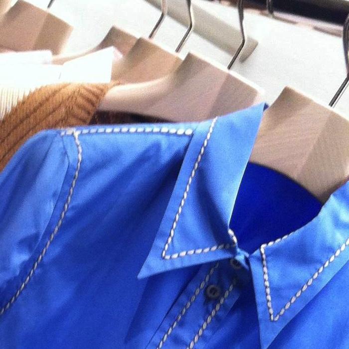 Prada resort collection blue shirt