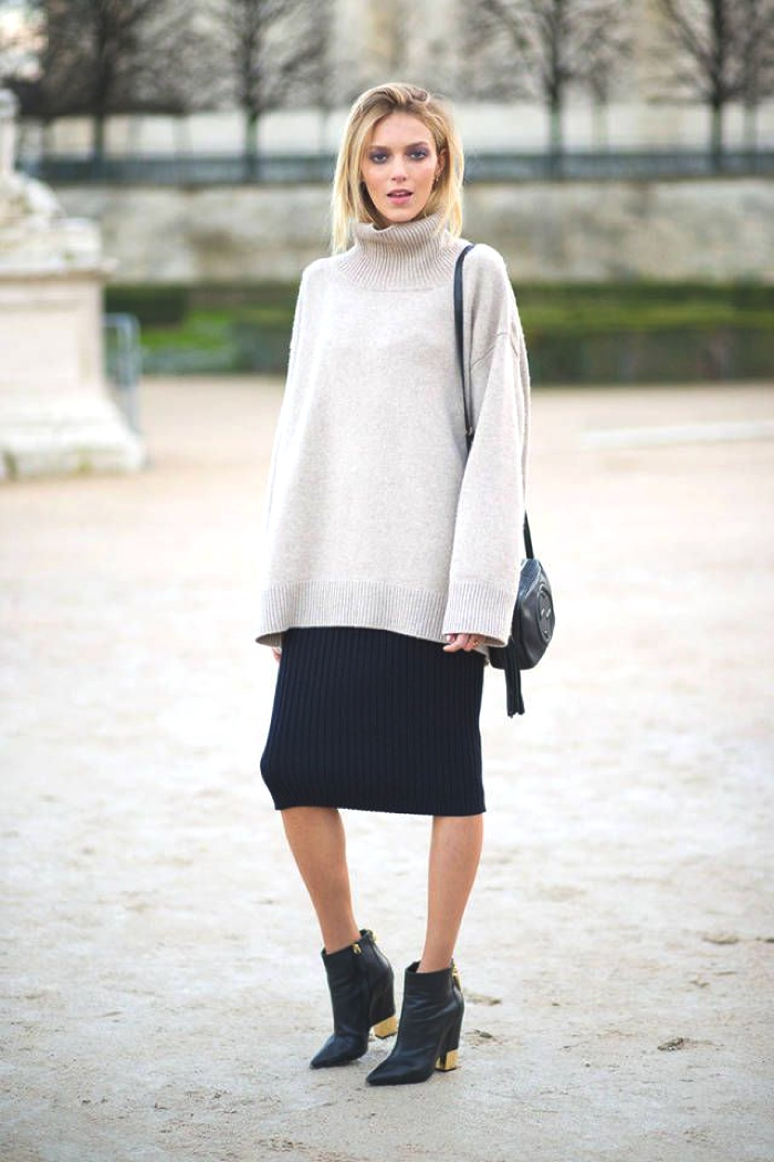Sweaters and skirts street style