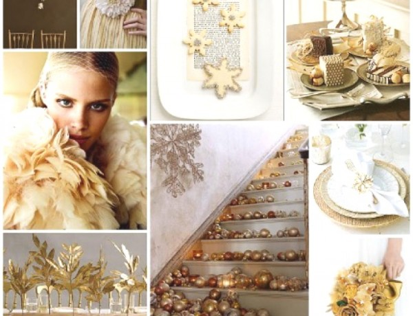 Wedding Day Ideas- Sparkling Gold and Creamy Whites 3