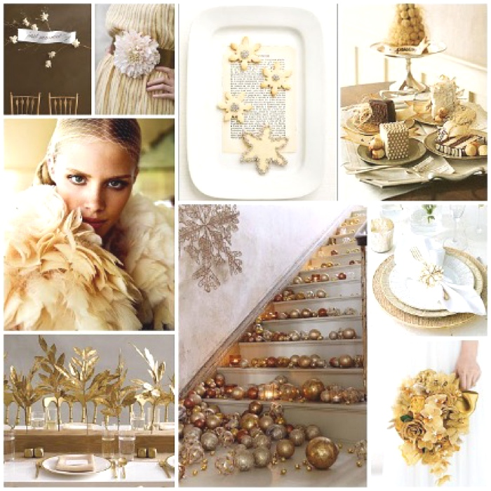 Wedding Day Ideas- Sparkling Gold and Creamy Whites
