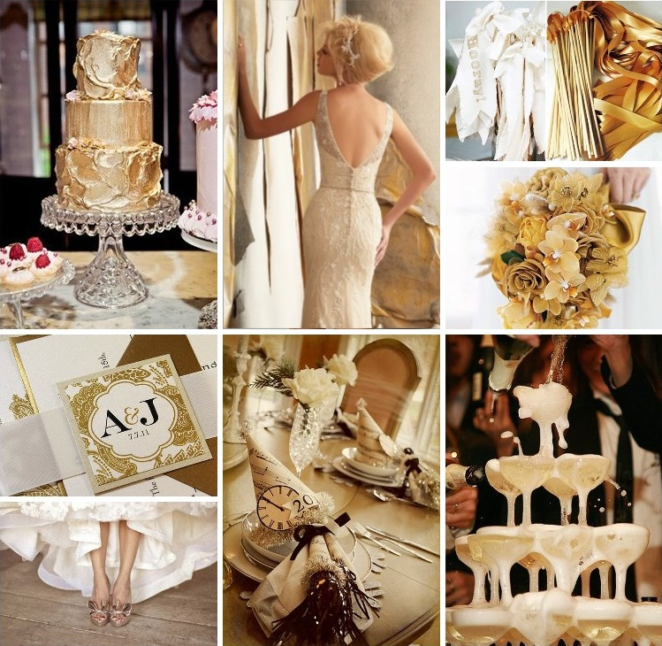 Wedding Day Ideas- Sparkling Gold and Creamy Whites 7