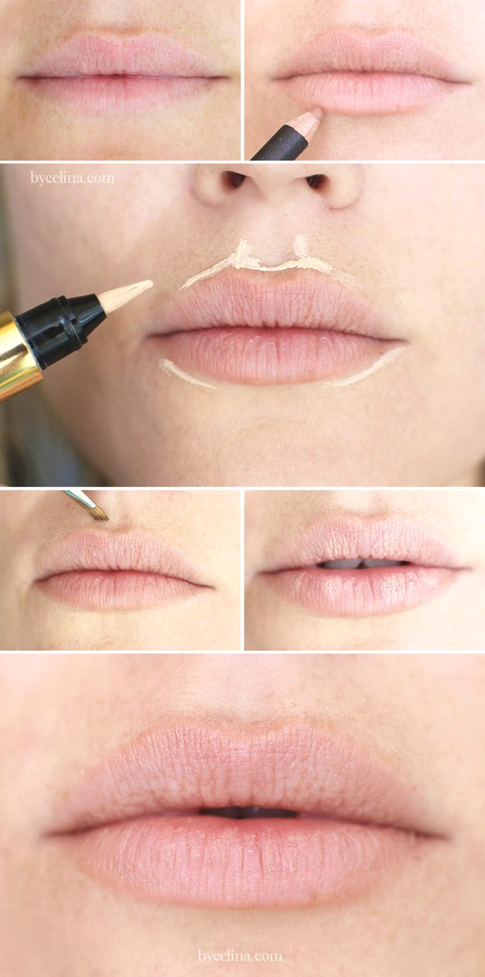 concealer around lips