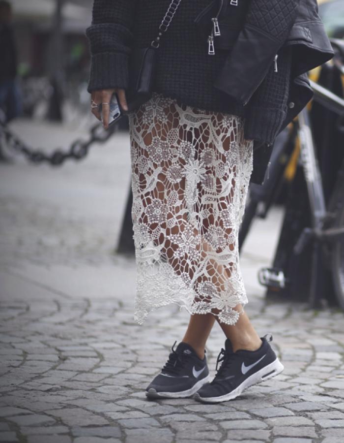 lace nike chunky knits