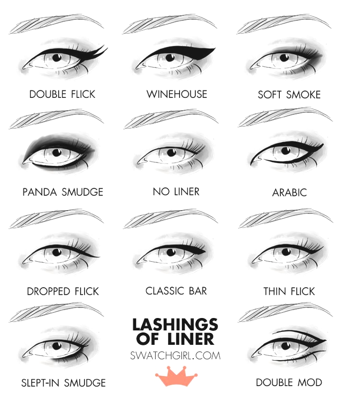 eyeliner ideas party looks