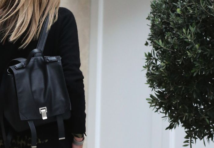 Proenza Schouler black backpack