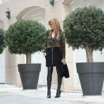 City Fashion Blogger Winter Outfit | Leather Skirt and Over the Knee Boots