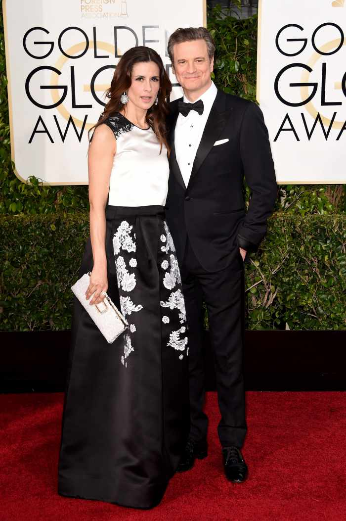 Colin and Livia Firth wear Chopard to the 72nd Golden Globes Awards,