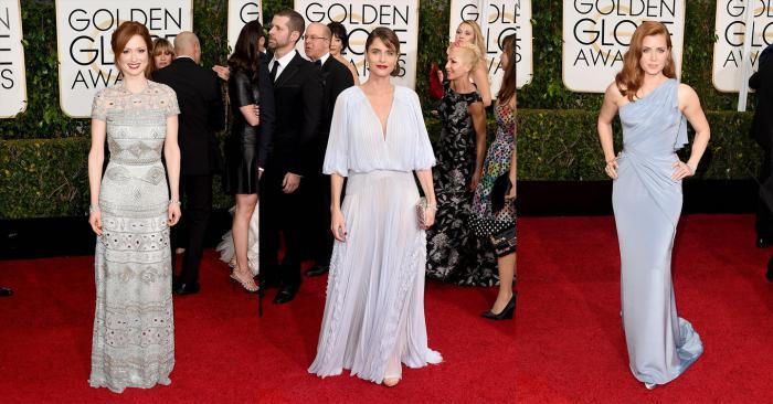 Ellie Kemper, Amanda Peet, Amy Adams red carpet golden globes 2015