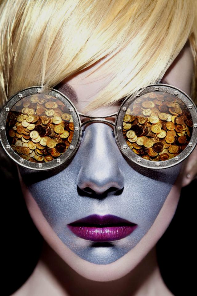 Huainan Li surreal photography money sunnies