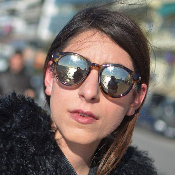 Niki Svolou Thessaloniki Winter Street Style Le Specs sunnies