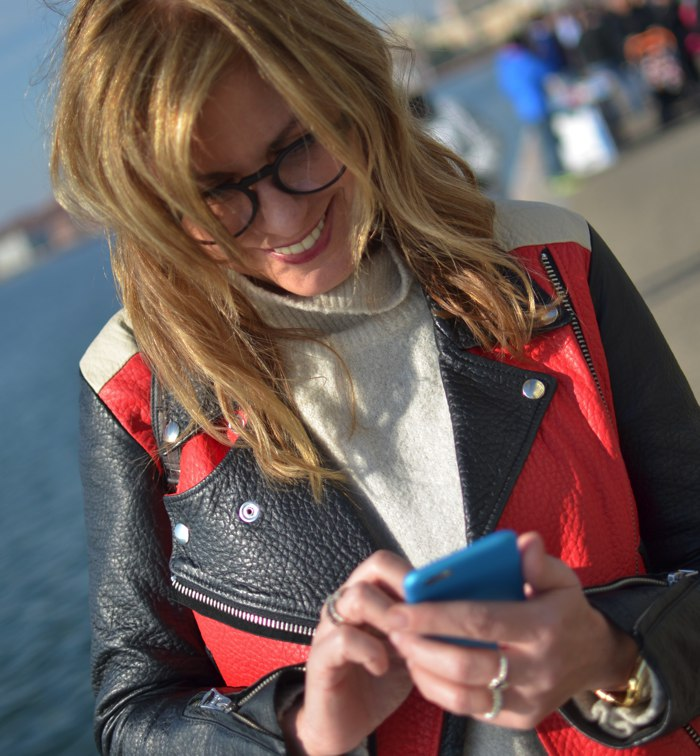 Trend Survivor, Acne leather jacket, Firmoo eyeglasses