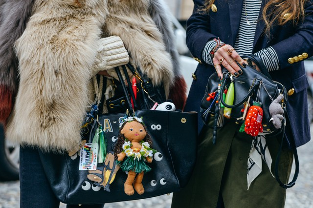 Best Fashion Week Street Style Trend Alert | Personalized Bag Charms