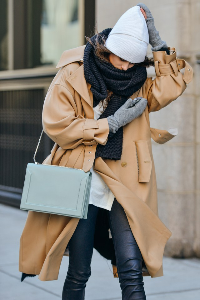 Camel coat inspiration NYFW