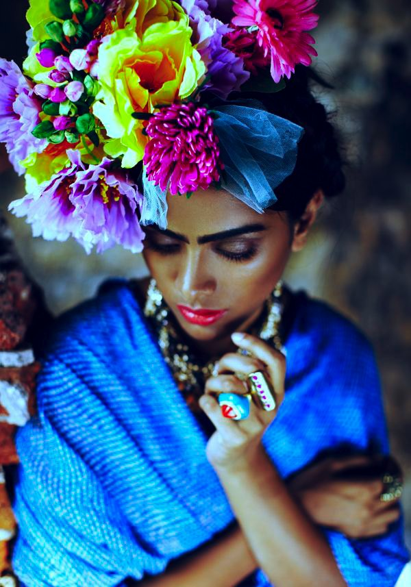Frida Kahlo makeup idea