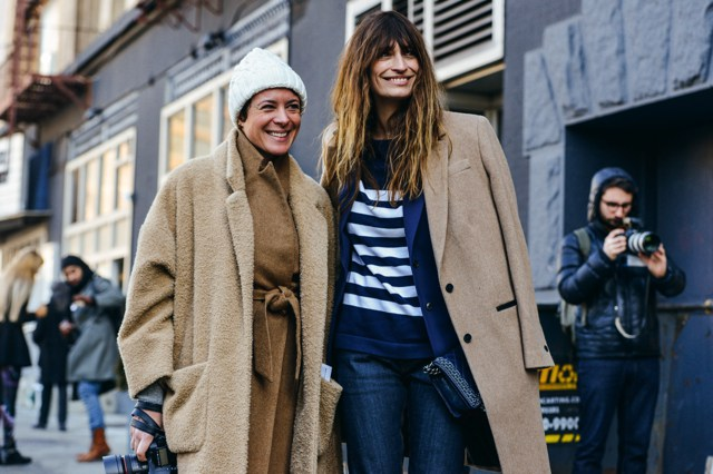 Garance Dore Caroline de Maigret-NYFE street style camel coats