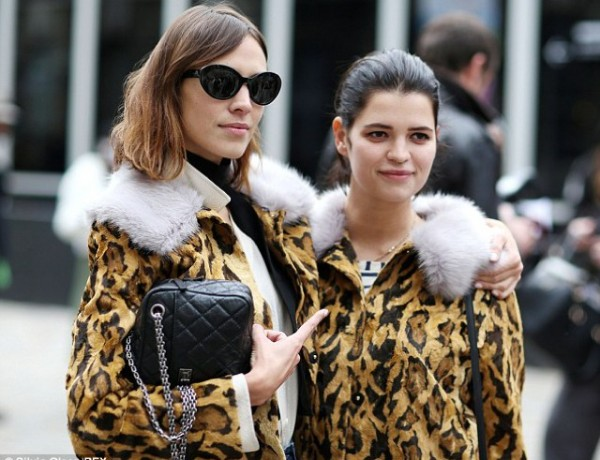 Leopard Fur jacket LFW Alexa and Pixie