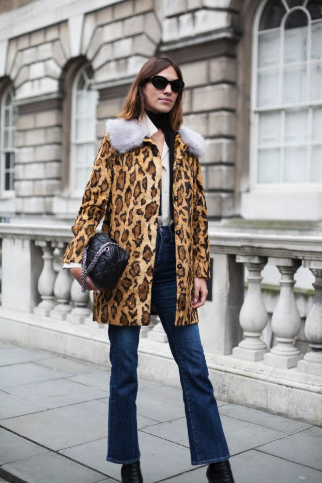 Leopard Fur Coats Shrimps coat