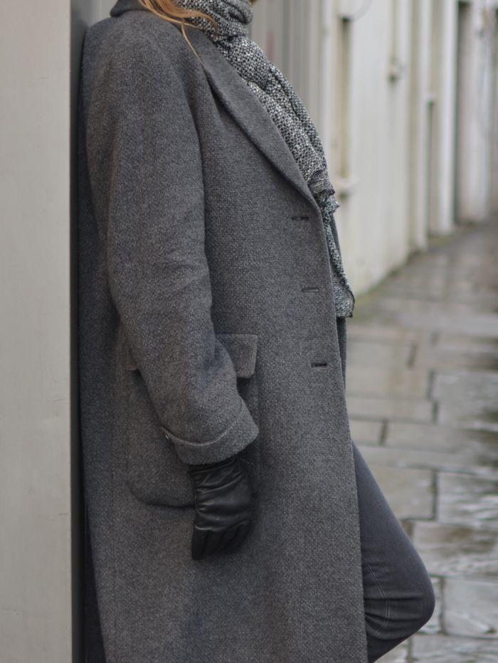 Classic grey Giorgio Armani coat