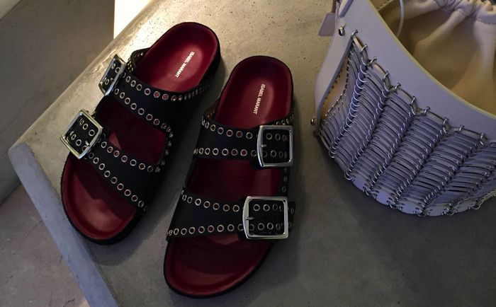 Isabel Marant studded sliders