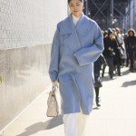 New York Fashion Week Fall 2015 Street Style Trend | Pastel Blue Coat