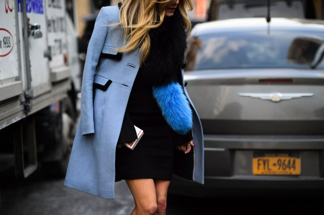 Pastel Blue coat New York fashion Week