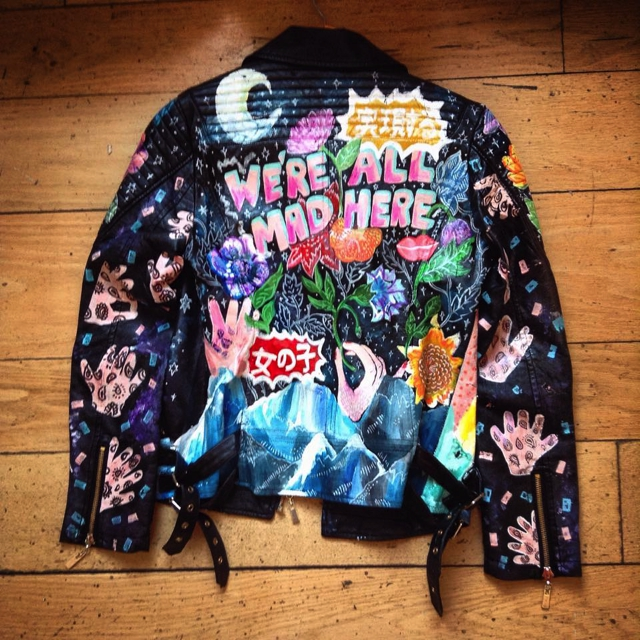 Phiney Pet hand-painted leather jacket