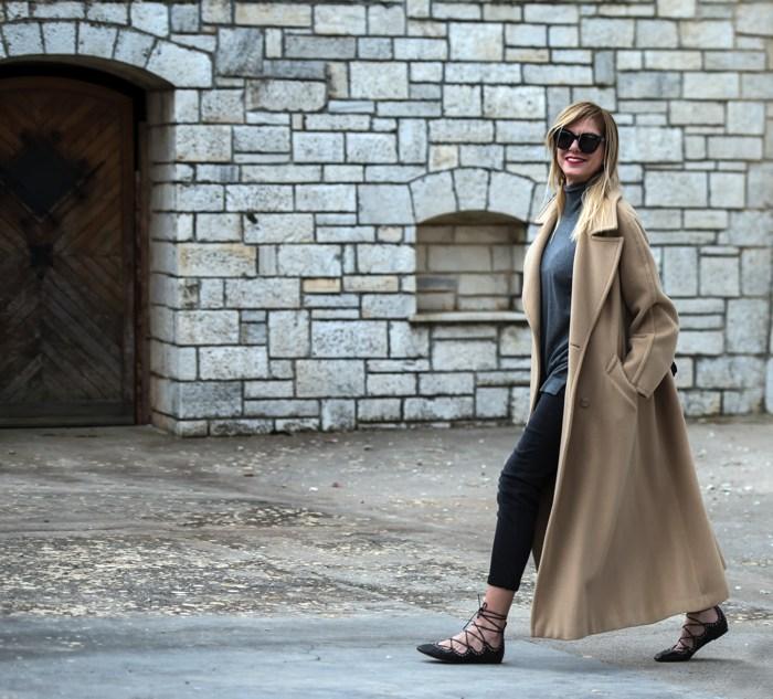 Street Style-Camel Coat- Flats Isabel Marant01