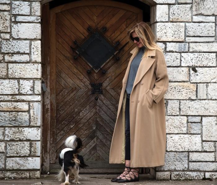 Street Style-Camel Coat- Flats Isabel Marant