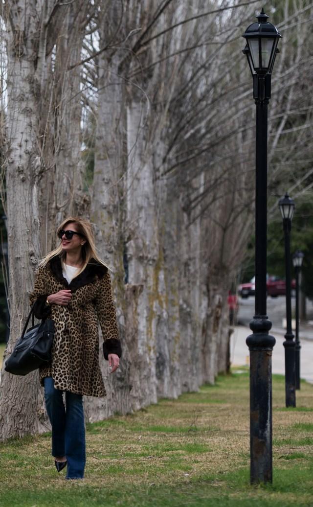 Street Style Leopard Coat 70s Style01