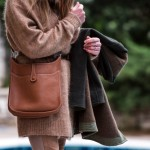 Winter Street Style | Laid-back luxe Camel Acne Studios Cardigan