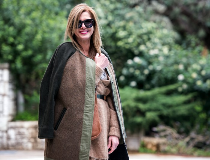 Khaki green Isabel  coat