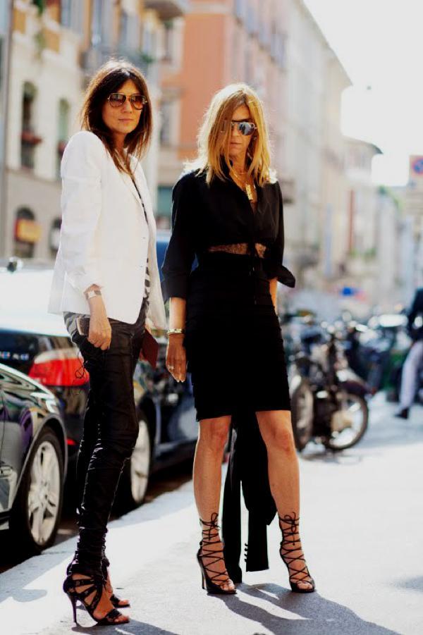 The Sartorialist Emmanuelle Alt & Carine Roitfeld,