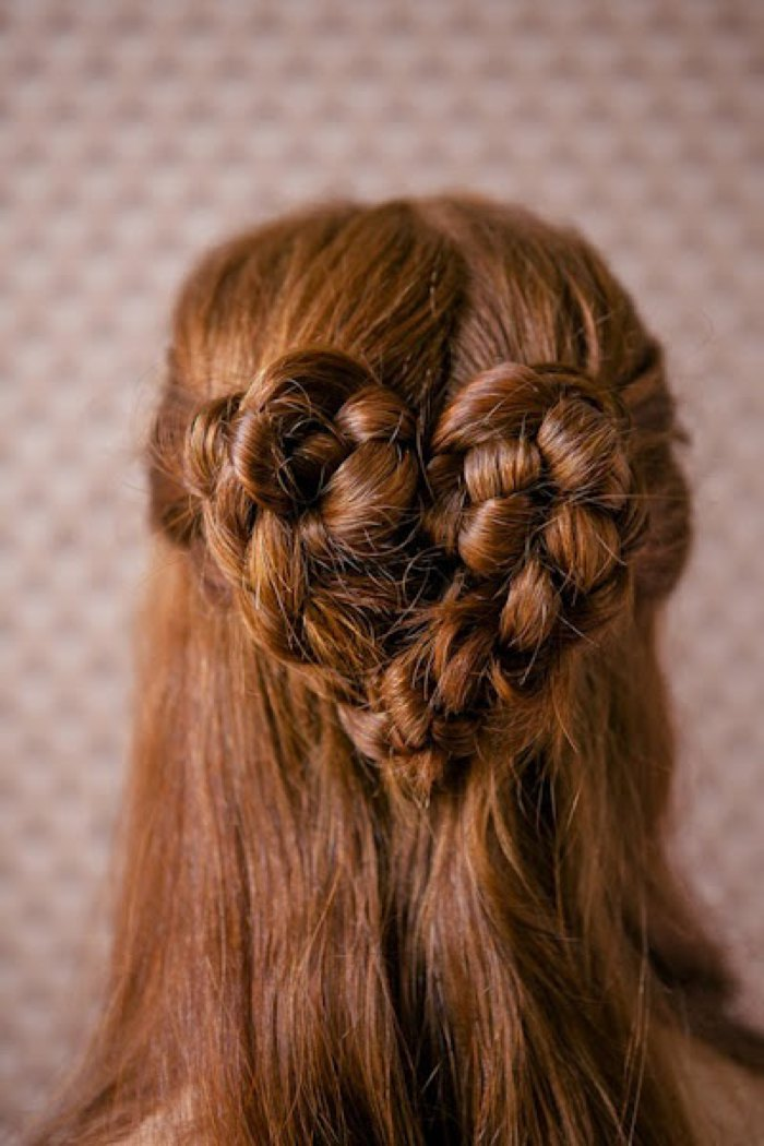 heart braid Valentine's hairstyle