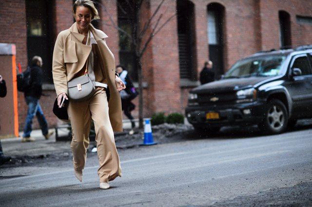 NYFW camel coat