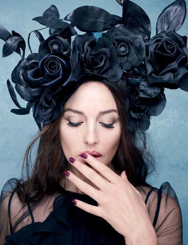 flower hat black